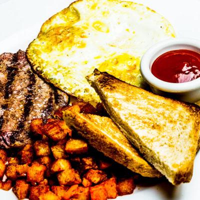 Talia's steak egg