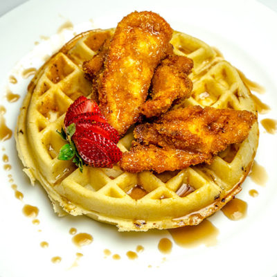 talias fried chicken over waffles